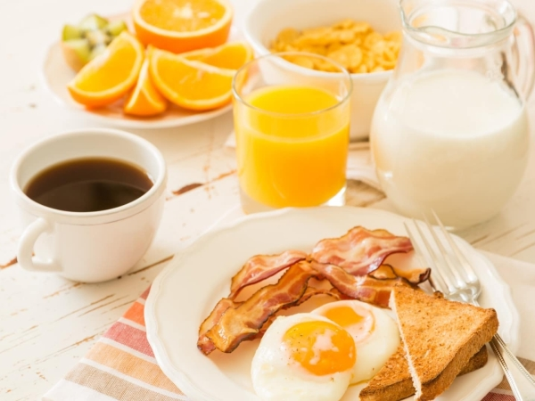 завтрак в подарок в отеле